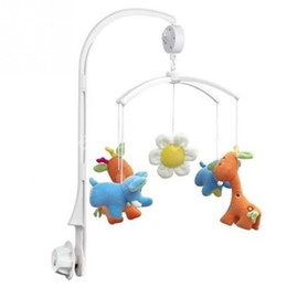 Wholesale Crib Mobile Arm - Baby toys White Rattles Bracket Set Baby Crib Mobile Bed Bell Toy Holder Arm Bracket Wind-up Music Box