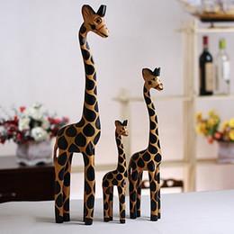 3 шт./компл. старинные Nordic журнал ремесло подарок жираф ручная роспись животных деревянные украшения украшения дома дерево искусство печати ремесло дерево игрушка от
