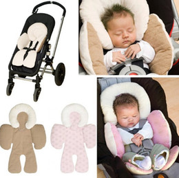 Wholesale Modern Car Seats - Baby Stroller Cushion Safety Car Seat Pad Infant Double Side Available Carriage Mat Stroller accessories Trolley Cushion Head Protection Pad