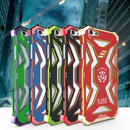 Étui en métal iphone metal en Ligne-Téléphone Shell Case Téléphone Case Pour iPhone 5 6 7 plus Loki Captain PhoneAvengers Super-héros Iron Man Metal Cell
