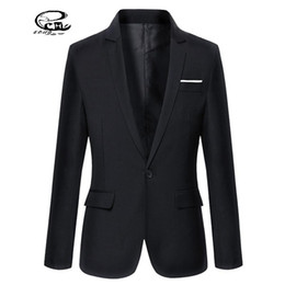 Wholesale Cheap Blazers Jackets - Wholesale- 2016 New Cheap Mens Blazers Solid Terno Masculino Slim Fit Mens Formal Jackets Blazer Spring Style Casual Suit Men Plus Size 3XL