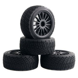 Wholesale Flux Car - RC HPI 107870 Black Rim Tires&Wheel 4PCS sets For Electric WR8 Flux