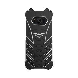 Wholesale Batman Cases - R-JUST batman for samsung galaxy S8 metal aluminum Shockproof Cover case s8 plus Armor anti-knock phone cases
