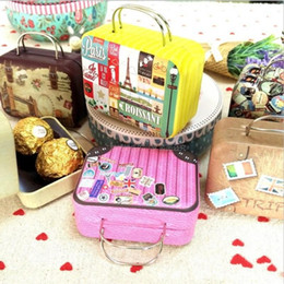Wholesale Wholesale Bag Manufacturers - Retro Suitcase Bags Originality Handbag Packing Storage Bag The Little Candy Box Wrap Coin Purse Manufacturers Supplies 2 7mp H R
