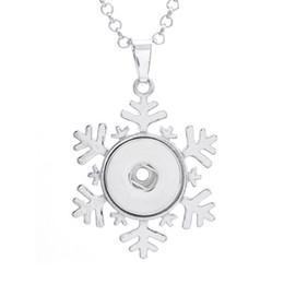 Argentina El botón de plata del copo de nieve de 5PCS encajona el colgante del collar para la joyería a presión del jengibre de los 18MM Suministro