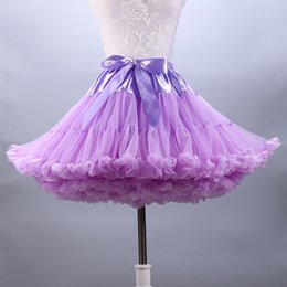 Wholesale Black Dance Skirts - Hot Sale Puffy Tulle Women Short Skirt For Party Pure Color Pretty Ball Gown Lady Dress Petticoats Girl Peformance Dance Skirts