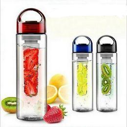 Wholesale Fruit Water Infuser - 3 Color Tritan Fruit Infuser Water Bottle 700ml Fruit Juice Infusion Infuser Water Bottles Durable Tumbler Water Bottle 100pcs