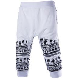 Wholesale Capri Pants Men Fashion - Wholesale- Hot Sale!! Summer Fashion 3 Colors M-XXL Casual Loose Mens Capri Cropped Short Pants Sweatpants Jogger Shorts Men