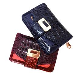 Wholesale Vintage American Standard - New Arrival Short Wallets Holders Woman Clutch Bag Credit Multi-card bit Package Alligator Vintage Ladies Candy Zipper Coin Purse VKP1419
