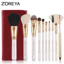 Wholesale Make Up Brushes Zoreya - Zoreya 10pcs Makeup Brushes Professional Set Foundation Eyeshadow Eyeliner Lip Make Up Brush Tools Cosmetic Kit Maquillaje