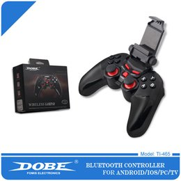 Wholesale Holder Tv - DOBE Ti-465 Bluetooth Gamepad DOBE Game Controller Joystick with Cellphone Holder Up to 5.5 inch For Android IOS PC TV