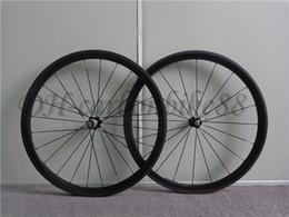 Ruedas de bicicleta de carretera de fibra de carbono clincher de 38 mm con novatec 271 hub 8/9/10/11 Juegos de ruedas pintadas brillante / brillante de velocidad 3k desde fabricantes