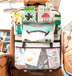 Wholesale Hangers For Men - Portable multifunctional Cartoon Multi-Pocket Travel Storage Bag 600 D Oxford Hanger Backseat Organizing Box Car organizer for kids