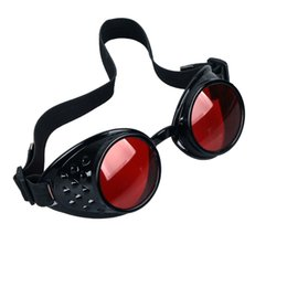 Wholesale steampunk cyber goggles - Wholesale- NEW Vintage Victorian Steampunk Goggles Glasses Welding Cyber Punk Gothic Cosplay Free Shipping