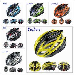 Capacetes de bicicleta de estrada super leve on-line-Super Leve 220g 21 Furos Road Bike Ciclismo Capacetes de Peças de Bicicleta dos homens Amarelo / Verde / Azul / Laranja / Vermelho / Prata / Amarelo Livestrong Capacete Da Bicicleta