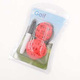 Wholesale Golf Accessories Set - Wholesale- 6PCS lot Golf Ball Line Liner Marker Pen Drawing Alignment Marks Tool Set Accessories with pen