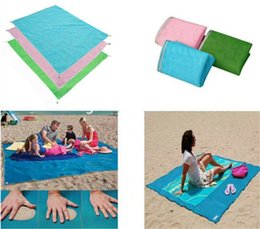 Wholesale Easy Fold - New Outdoor Pocket Rug Pocket Picnic Blanket Mat Easy Fold Outdoor Pads Lightweight Sand Free Picnic Blankets Mat Waterproof Portable pads