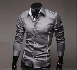 Wholesale Cut Sleeves Shirt - Fashion men fashion high quality casual shirt Slim cut personalized trim men's casual long sleeved shirt