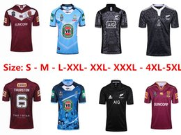 Wholesale Flashing Sizes - 2017 NRL National Rugby League top quality Queensland QLD Maroons Rugby jerseys NSWRL Holden NSW blue men euro Extra large size S-4XL-5XL