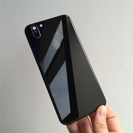 Wholesale Iphone Back Glass Logo - For iPhone 6 6 Plus Rear Housing Like iPhone X Style Battery Door Black Red Metal Glass Back Cover with Logo Side Keys