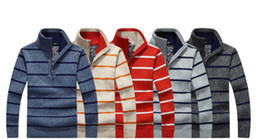Wholesale Turtleneck Cashmere Jumpers - New 2018 Mens Turtleneck Half Zip Mens Jumpers Men's Clothing Winter Thick Coat Cashmere Sweater Men Knitted