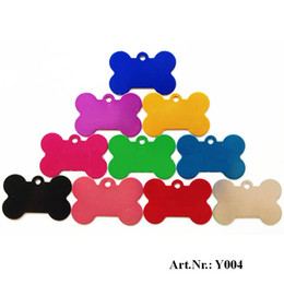 Wholesale Laser Pet Tags - Hot-Sale Aluminum Alloy blank Pet Dog ID Tags Anodized surface laser engravable Identity Tags