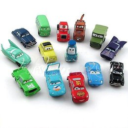 Wholesale Mcqueen Toys - New a set of 14 pixar cars PVC figures Lightning McQueen Mater Sally Ramone guido doll model children toy kid gift