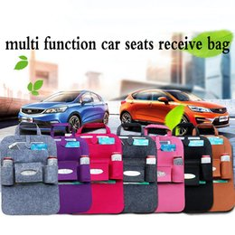 cars storage box Promo Codes - 2017 Multi Function Auto Car Seats Receive Bag Multi Pocket Travel Storage Bags Hanger Storage Box Seat Pocket WX-P08