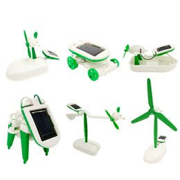 Wholesale Wholesale Solar Power Kits - 6-in-1 Solar Power Robot generation robot Kit Toy Educational and Fun intelligence development education learning DIY circuit assembly