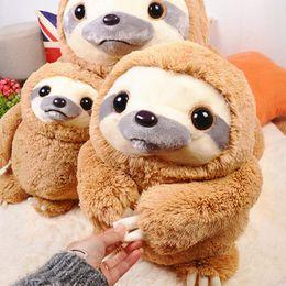 Wholesale Cute Sloth - Cute Stuffed Animal Soft Plush Toy Doll Baby Sloth Happy Birthday Teddy Bear Pelucia Personagens Kids Toys Oyuncak Bebek 70G0276