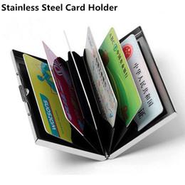10 pezzi in acciaio inox carta di credito scatola di immagazzinaggio di carta in metallo creativo semplice sacchetto della carta di credito da scatole di immagazzinaggio bancario fornitori