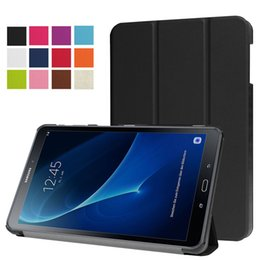 Wholesale galaxy s3 slim case - Ultra Slim 3 Fold Flip Magnetic Smart Cover Case For Samsung Galaxy Tab A 2016 T350 T550 T580 S2 S3 T710 T715 T810 T815 T820 With S Pen P580