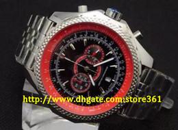 большой человек японский Скидка store361 новые прибыть мужские Красный циферблат Япония хронограф спорта запястье Supersports ISR мужские часы FLYING B Motors super big steel Watch