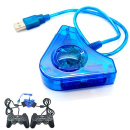 Wholesale Psx Usb - Best Promotion Great Flashing USB 2.0 Dual Interface Controller Adapter Converter For PS1 For PS2 For PSX To PC Computer
