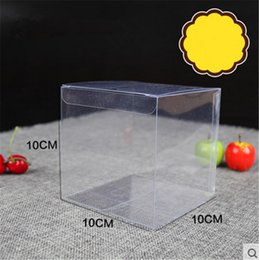 Wholesale Clear Display Packaging Gift Boxes - 10*10*10cm   clear PVC box   gift packaging   cake Christmas Eve apple  fruit