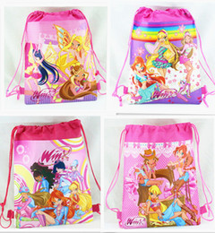 Wholesale Wholesale Winx Club - New Style !12pcs Winx Club fashion backpack popular schools bags good quality canvas cartoon kids backpack Free Shipping