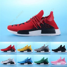 Wholesale New Style Shoes For Mens - New Style HOTSALE NMDS HUMAN RACE mens Running Shoes for mens Sports shoes sneakers Mesh Breather Summer Pharrell Williams X NMD Size 36-45