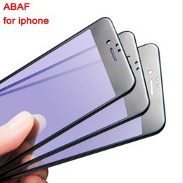 Wholesale Glass Fiber Light - Carbon Fiber 3D Full-screen Tempered Glass Protectors HD Anti-blue Light Cell Phone Screen Protectors Film for iphone 7 7plus 6 6s 6plus