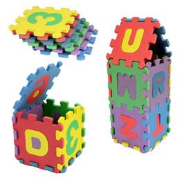 Wholesale Soft Puzzle Floor Mat - Wholesale- 36pcs Set Alphabet Numerals Kids Rug Baby Play Mat Soft Floor Crawling Mini Puzzle Mats for Children 17.8*13.5*1.7cm Hot