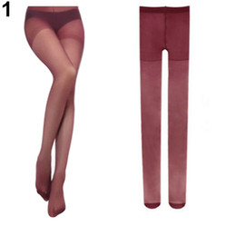 Wholesale Brown Velvet Tights - Wholesale-NO.1 Women's Sexy Fashion Candy Color Velvet Transparent Tights Stockings Pantyhose 68X1