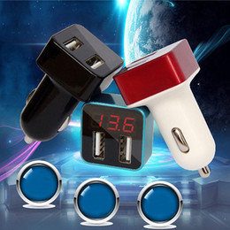 Argentina Comercio al por mayor Voltaje Display Car Charger DC VLT Voltage Tester 2 USB Car Charging Adapter Cell Phone Charger Detection High-End Battery Tester Suministro