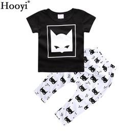 Wholesale boys batman tops - Hooyi Batman Baby Boys T-Shirt Pant Set Summer Children Clothes Toddler Sport Suit Outfit 100% Cotton Short Sleeve Girls Top Trousers 0-3Y