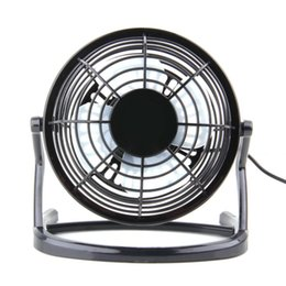 Wholesale Usb Dc Fan - Portable DC 5V Small Desk USB 4 Blades Cooler Cooling Fan USB Mini Fans Operation Super Mute Silent PC   Laptop   Notebook