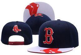 Wholesale Snapback Adjustable Boy - Boston Baseball Hats RED Sox Team Snapbacks Cheap Sports Caps Adjustable Snapback Fashion Hip Hop Hat Summer Flat Caps for Boys and Girls