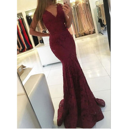 Wholesale New Style Sexy Mermaid Dress - New Spring Summer Hot Sale Sexy Style V-Neck Mermaid Evening Long Dresses With Pleats Prom Gowns