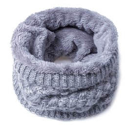 Wholesale Cotton Cream Scarf Women - 2017 Fashion Winter Scarf For Women Men children Baby Scarf Thickened Wool Collar Scarves Boys Girls Neck Scarf Cotton Unisex