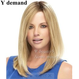 Wholesale Long Sexy Hair Wigs - Sexy Long Blonde Hair Synthetic Straight Wigs Hair With Bangs African American For Black Women In Stock High Temperature Fiber