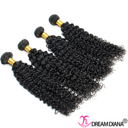 Wholesale Cheap 4pcs Curly Weave - Brazilian Kinky Curly Weave Hair Extensions Unprocessed Virgin Human Hair Cheap Brazilian Hair Weave Bundles 4Pcs Lot Dyeable Free Shipping