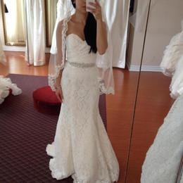 Robes de mariée chérie sirène en Ligne-robe de mariage blanc dentelle robes de mariée sirène 2017 chérie dentelle haut retour robes de mariée pas cher robes de mariée