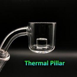 Wholesale Wholesale Glass Pillars - Free DHL Shipping!!! XL Quartz Thermal Banger With Thermal Pillar 10mm 14mm 18mm 45 90 Male Female Quartz Banger Nails For Glass Bongs